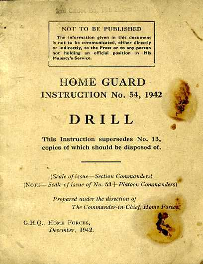 Home Guard Instruction No54, 1942- Drill