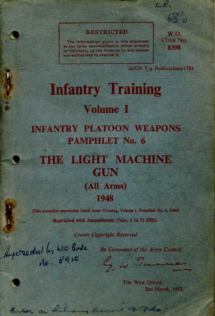 The Light Machine Gun InfantryTraining Pamphlet No6 1948
