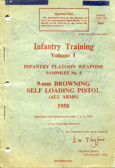 Vol 1 Pam No5 9mm Browning Pistol 1958