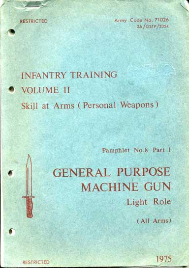 Pamphlet 8 General Puspose Machione Gun (GPMG)
