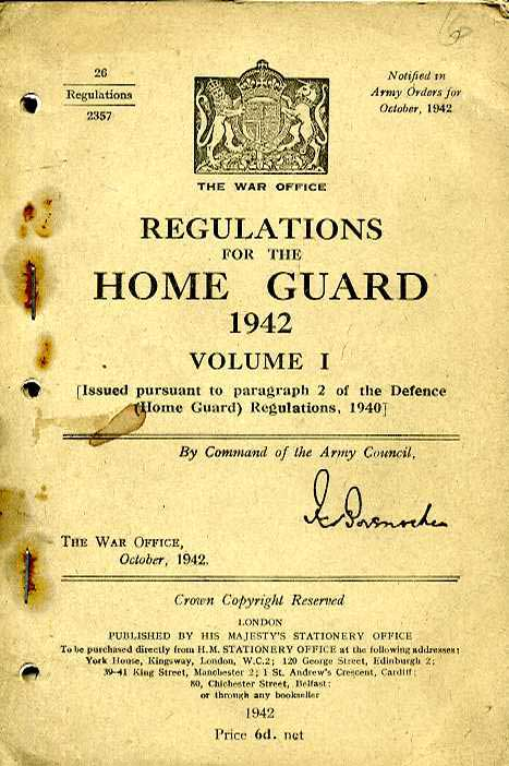 Regulations for the Home Guard 1942 Vol 1
