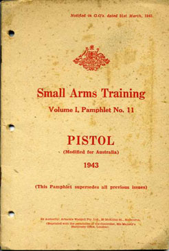 Small Arms Training No11; Pistol (.38-inch) 1943