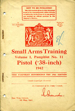 Small Arms Training No11; Pistol (.38-inch) 1942