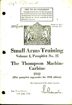 Small Arms Training No21- Thompson SMG 1942