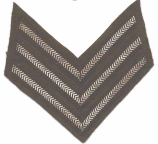 Sergeants Stripes- Rank Badge