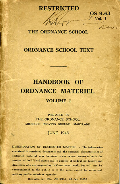 Handbook of Ordnance Materiel Vol1 1943