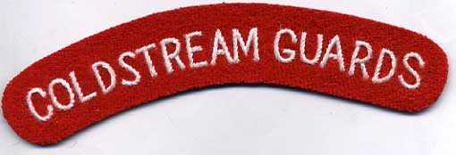 Coldstream guards Shoulder Title