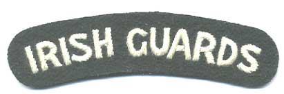 Irish Guards Shoulder Title