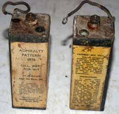 WW2 S Type wet batteries (Empty)