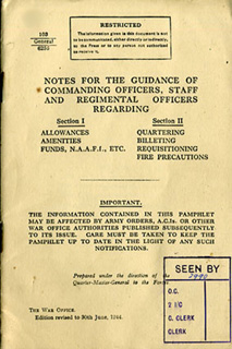 Notes for Guidance of Commanding Officers, Staff and Regimental Officers 1944