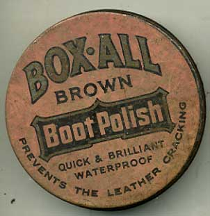 Box-All Brown shoe polish