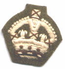 Khaki backed officers crown
