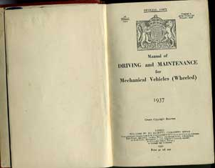 Manual of Driving and Maintenece 1937