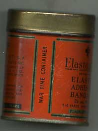 Elastoplast in WW2 tin