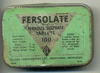 Fersolate tin for Ferrous Sulphate Tablets