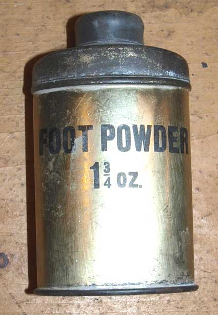 Footpowder tin 2oz or 1&3/4 oz -plated