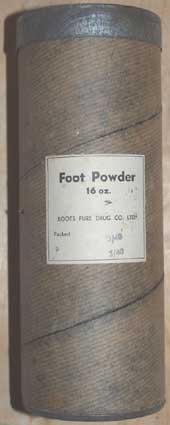 Footpowder tin 16oz Bulk Container