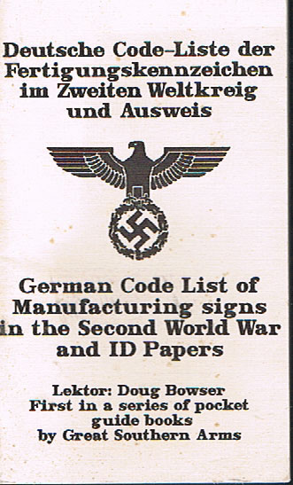 German Code List of Manufacturing signs in the Second World War and ID Papers