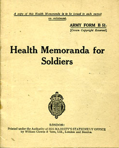 Health Memranda for Soldiers 1941 printed 1945