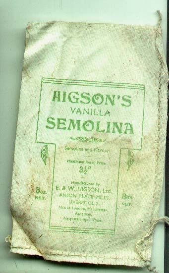 Higson Semolina packet