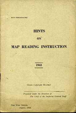 Hints on Map Reading Instruction 1943