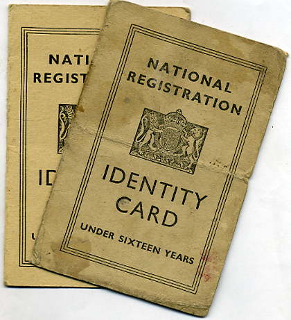 WW2 type childs identity card
