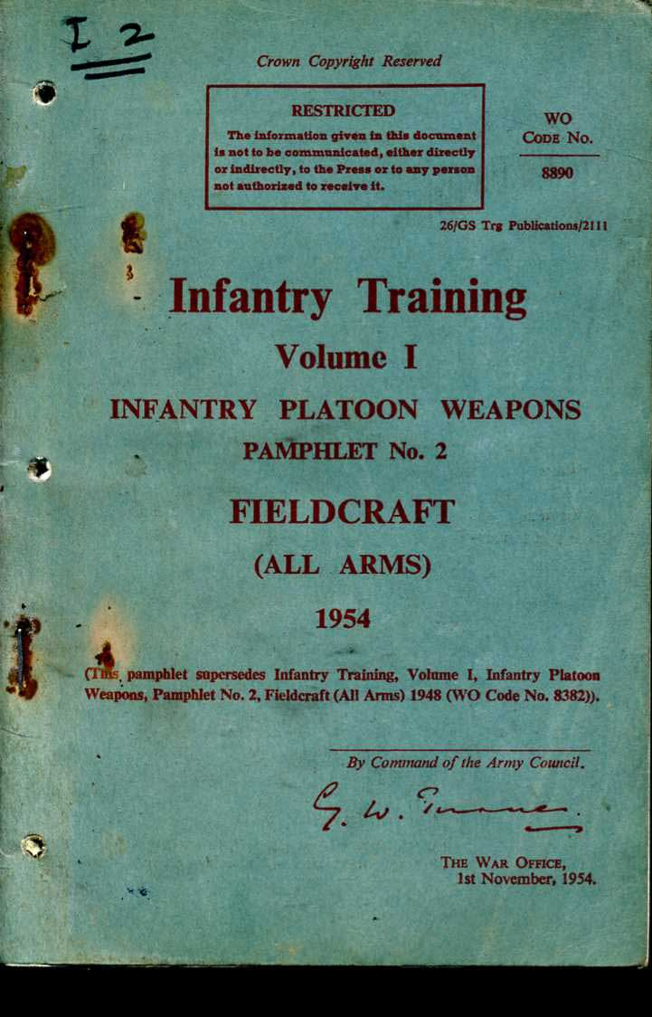 Fieldcraft; InfantryTraining Pamphlet No2 1954