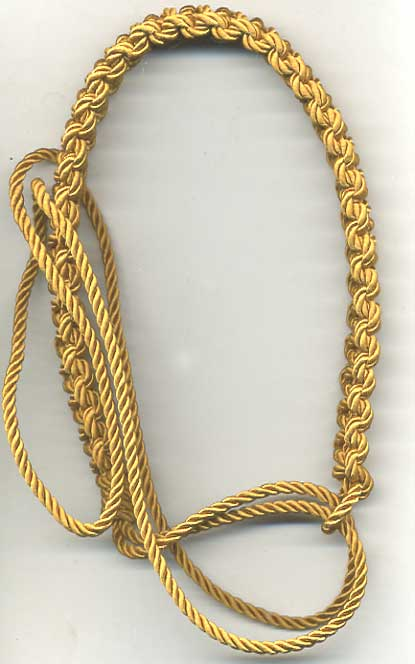'Old Gold' ARP and Civil Defence lanyard