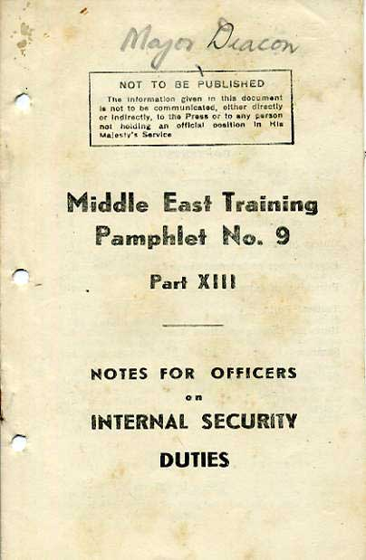 Middle East Training Pamphlet No9 Part XIII £3.50
