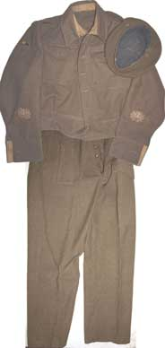 40 Pattern Battledress uniform with owners documents and photos PRICE REDUCED FROM £395!!