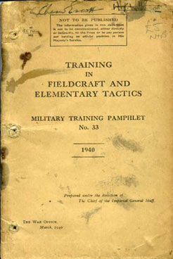 MTP No33 Training in Fieldcraft and Elementary Tactics 1940