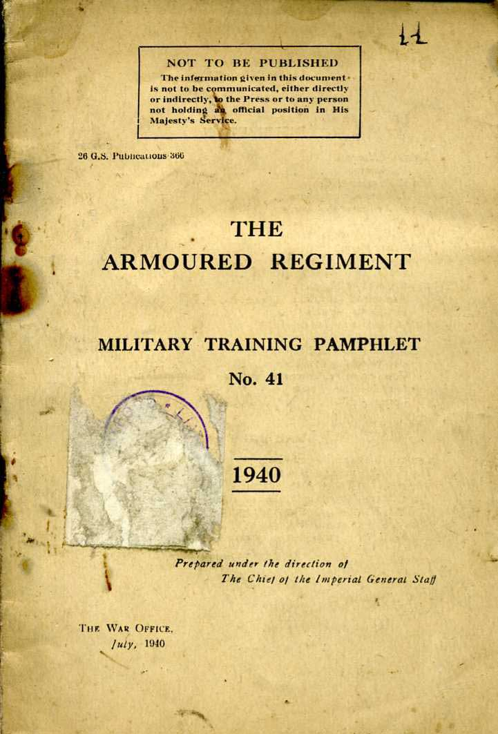 MTP No41 The Armoured Regiment 1940