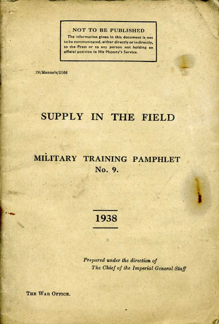 MTP No9 Supply in the Field 1938