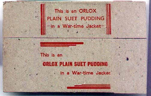 Orlox suet packet-wartime