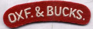 Oxfordshire and Buckinghamshire Regt Shoulder Title