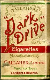 Park Drive empty Cigarette packet