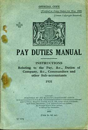 Pay Duties Manual 1931 £8.50
