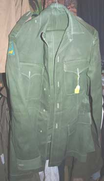 1950's/60's Officers Pea Green Jacket and trousers (PG1) £75