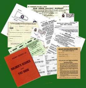 Personal Documents set 1 for ATS personnel-Repro (AB64 Not included)