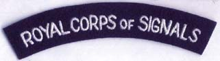 Royal Corps of Signals Shoulder Title