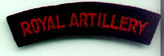 Royal Artillery Shoulder Title-genuine