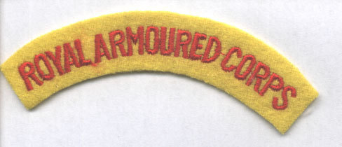 Royal Armoured Corps Shoulder Title