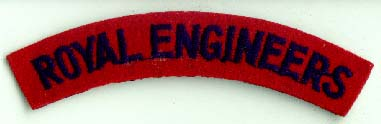 Genuine Royal Engineers Shoulder Title