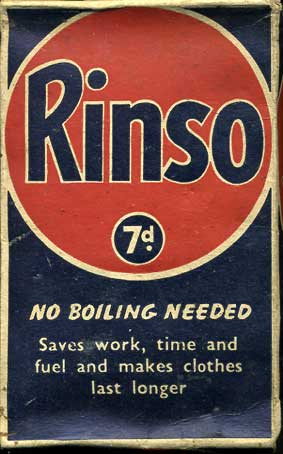 Rinso Washing Powder- 'Save for Salvage' box
