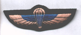 SAS Parachute qualification wings