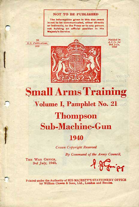Small Arms Training No21- Thompson SMG 1940