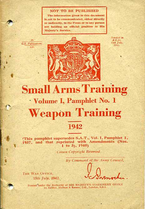 Small Arms Training No1- Weapon Training 1942-PRIVATE SALE £5.50