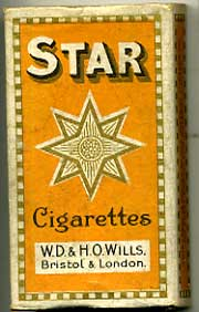 Star (type 1) empty Cigarette packet