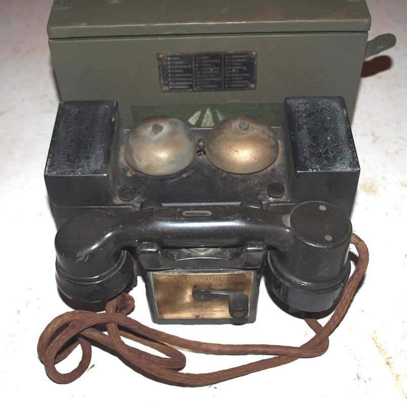 Scarce Field Telephone F MK1 dated 1936 in original box