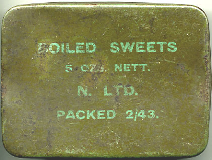 Issue WW2  ration box for Boiled Sweets